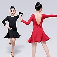 Latin tánc Ruhák Lány Edzés / Teljesítmény Elasztán / Lycra Hullámszerű Hosszú ujj Ruha