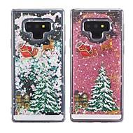 billiga Mobil cases & Skärmskydd-fodral Till Samsung Galaxy Note 9 / Note 8 Stötsäker / Flytande vätska / Genomskinlig Skal Jul Mjukt TPU för Note 9 / Note 8
