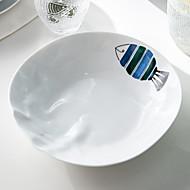 billiga Bordsservis-1-Piece Flata tallrikar Bricka Serveringsfat servis Keramisk Värmetålig Ny Design Förtjusande