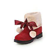 baratos Sapatos Femininos-Mulheres Couro Sintético Outono & inverno Botas Salto Plataforma Ponta Redonda Botas Curtas / Ankle Preto / Amarelo / Vermelho