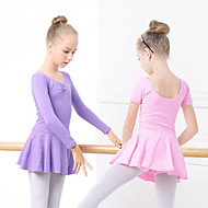 cheap -Ballet Dresses Girls' Training / Performance Elastane / Lycra Ruching / Wave-like Long Sleeve Dress