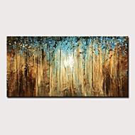 preiswerte -Hang-Ölgemälde Handgemalte - Abstrakt Landschaft Modern Ohne Innenrahmen
