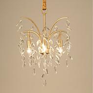 billige Takbelysning og vifter-JLYLITE 3-Light Candle-stil Lysekroner Opplys galvanisert Metall Mini Stil 110-120V / 220-240V