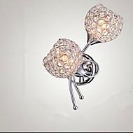 billige Krystall Vegglys-Moderne / Nutidig Vegglamper Metall Vegglampe 110-120V / 220-240V 40W