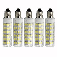 tanie Oświetlenie dekoracyjne-5 szt. 4.5 W 450 lm E11 Żarówki LED kukurydza T 76 Koraliki LED SMD 2835 Przygaszanie Ciepła biel / Zimna biel 110 V
