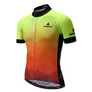 Miloto Ανδρικά Κοντομάνικο Φανέλα ποδηλασίας - Φωτεινό Ποδήλατο Αθλητική μπλούζα Πίσω τσέπη Αθλητισμός 100% Πολυέστερ Ποδηλασία Βουνού Ρούχα / Ελαστικό