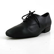 billige Kustomiserte dansesko-Herre Moderne sko Lær Flate Flat hæl Kan spesialtilpasses Dansesko Svart