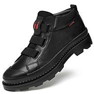 baratos Sapatos Masculinos-Homens Fashion Boots Pele Napa Outono & inverno Casual / Formais Botas Manter Quente Botas Curtas / Ankle Preto