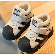 baratos Sapatos de Menino-Para Meninos / Para Meninas Sapatos Pele Inverno Conforto Tênis Velcro para Bébé Preto / Bege / Vermelho / Estampa Colorida