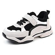 baratos Sapatos de Menino-Para Meninos / Para Meninas Sapatos Couro Inverno Conforto Tênis Velcro para Infantil Branco / Preto