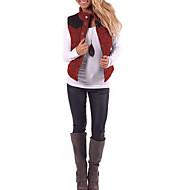 여성용 일상 스트리트 쉬크 보통 조끼, 컬러 블럭 스탠드 민소매 폴리에스테르 푸른 / 루비 M / L / XL