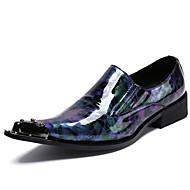baratos Sapatos Masculinos-Homens Sapatos formais Pele Napa Primavera & Outono Casual / Formais Oxfords Não escorregar Gradiente Verde Tropa / Azul / Festas & Noite