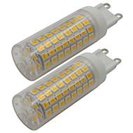 billige Bi-pin lamper med LED-2pcs 5 W 460 lm G9 LED-lamper med G-sokkel T 102 LED perler SMD 2835 Varm hvit / Kjølig hvit 110-130 V