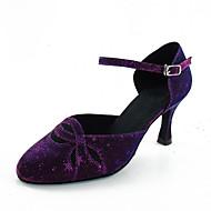 billige Moderne sko-Dame Moderne sko Sateng Høye hæler / Joggesko Glimmer Slim High Heel Kan spesialtilpasses Dansesko Mørk Lilla