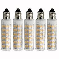 billige Kornpærer med LED-5pcs 4.5 W 450 lm E11 LED-kornpærer T 76 LED perler SMD 2835 Mulighet for demping Varm hvit / Kjølig hvit 220 V