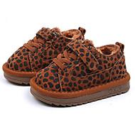 baratos Sapatos de Menina-Para Meninos / Para Meninas Sapatos Camurça Inverno Conforto Tênis Velcro para Bébé Preto / Cinzento / Castanho Claro / Leopardo