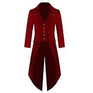 الطاعون الطبيب العصور الوسطى Steampunk كوستيوم رجالي معطف أحمر أسود / أخضر / أزرق عتيقة تأثيري كم طويل أسقف