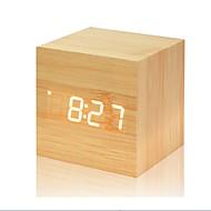 suoni multicolore controllo orologio in legno nuovo moderno legno digitale led scrivania sveglia termometro timer calendario decorazioni per la tavola