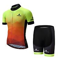 Miloto Hombre Manga Corta Maillot de Ciclismo con Shorts - Luminoso Bicicleta Pantalones Cortos Acolchados Deportes Ciclismo de Montaña Ciclismo de Pista Ropa