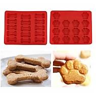 baratos Moldes para Bolos-Ferramentas bakeware Silicone Adorável Biscoito / para bolo Animal Moldes de bolos 1pç