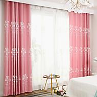billige Gardiner ogdraperinger-gardiner gardiner Soverom Moderne Polyesterblanding Broderi