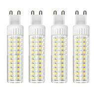 billige Kornpærer med LED-4stk 8.5 W 1105 lm G9 LED-kornpærer T 125 LED perler SMD 2835 Mulighet for demping Varm hvit / Kjølig hvit 220 V