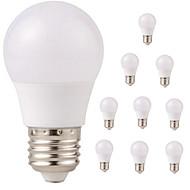 billige Globepærer med LED-10pcs 3W 350lm E26 / E27 LED-globepærer G45 6 LED perler SMD 2835 Vanntett Dekorativ Varm hvit Kjølig hvit 220-240V