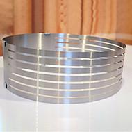 billige Kjeksverktøy-Bakeware verktøy Rustfritt stål Kreativ Kjøkken Gadget Til Kake / Originale kjøkkenredskap Rund Dessertverktøy 1pc