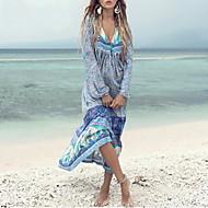 Dámské Větší velikosti Plážové Základní Swing Šaty - Geometrický Maxi Hluboké V / Sexy