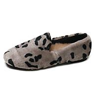 baratos Sapatos Femininos-Mulheres Couro Ecológico Inverno Casual Mocassins e Slip-Ons Sem Salto Bege / Cinzento / Rosa claro