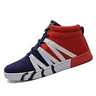 tanie Obuwie męskie-Męskie Komfortowe buty PU Wiosna i lato Casual Adidasy Antypoślizgowe Kolorowy blok Czarny / Niebieski / Czarny / Czerwony