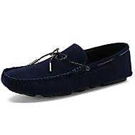 baratos Sapatos Masculinos-Homens Sapatos de couro Camurça Primavera & Outono Casual / Formais Sapatos de Barco Massgem Preto / Azul