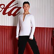 ชุดเต้นละติน เสื้อ สำหรับผู้ชาย Performance สแปนเด็กซ์ กระโปรงระบาย แขนยาว Top