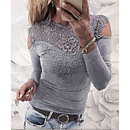 Pentru femei Bluză Mată Dantelă / Stil Vintage / Gol / Primăvară / Vară / Toamnă / Iarnă / Zvelt