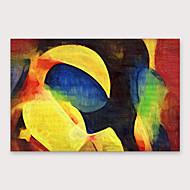 Peinture à l'huile Hang-peint Peint à la main - Abstrait Moderne Inclure cadre intérieur
