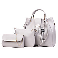 b9cd369422 Γυναικεία Τσάντες PU Σετ τσάντα 3 σετ Σετ τσαντών Φούντα Ρουμπίνι    Ανθισμένο Ροζ   Γκρίζο