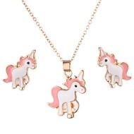 Dámské Klasika Šperky Set Kůň Módní, Cute Style Zahrnout Peckové náušnice Náhrdelník Zlatá Pro Denní Street