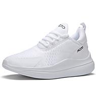 baratos -Homens Sapatos Confortáveis Com Transparência / Sintéticos Primavera Verão Casual Tênis Corrida Respirável Estampa Colorida Preto / Branco e Preto / Khaki