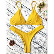 S M L גיאומטרי, בגדי ים ביקיני חוטיני אודם אפור צהוב בסיסי בגדי ריקוד נשים