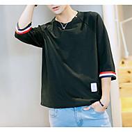Bărbați Rotund - Mărime Plus Size Tricou Bumbac Dungi