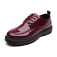 povoljno -Muškarci Udobne cipele PU Proljeće Klasik Oksfordice Nosite dokaz Crn / Lila-roza