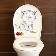 billiga Väggklistermärken-Toalettstickers - Animal Wall Stickers Djur Vardagsrum / Sovrum / Badrum