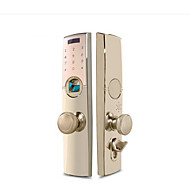 billige Dørlås-Factory OEM Sinklegering Lås / Intelligent Lås Smart hjemme sikkerhet System RFID / Fingeravtrykk opplåsing / Lås opp passord Leilighet / Kontor / Villa Sikkerhetsdør / Kobberdør / Wooden Door (Lås