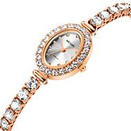 billige Quartz-Dame Armbåndsur Quartz Rose Guld Afslappet Ur Analog Afslappet Mode - Rose Guld / Rustfrit stål