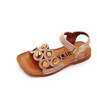 baratos Sapatos de Menina-Para Meninas Sapatos Couro Sintético Verão Conforto Sandálias para Infantil / Bébé Preto / Bege / Rosa claro