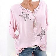 Bomull Store størrelser T-skjorte Dame - Geometrisk Rosa XXXL