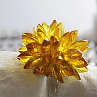 billige Bordduker-Klassisk Plast Akryl Rund Servietring Ensfarget Blomsternål i krystall Borddekorasjoner 12 pcs
