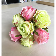 Flores artificiais 1 Ramo Clássico Europeu Pastoril Estilo Rosas Flor de Mesa