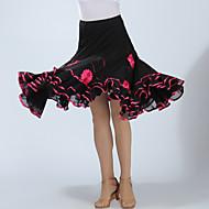 Für den Ballsaal Unten Damen Training / Leistung Polyester Applikationen / Horizontal gerüscht Hoch Röcke