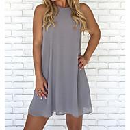 cheap -Women's Plus Size Daily Beach Basic Shift Dress - Solid Colored High Waist Fall Fuchsia Wine Light Blue XXXL XXXXL XXXXXL / Sexy